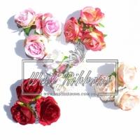 Розы 5 см тканевые