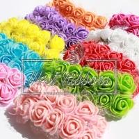 Роза с фатином 1.5 см / ОПТ