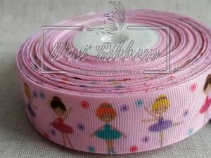 """Репс 2.5 см  """"Балерина"""" на розовом"""