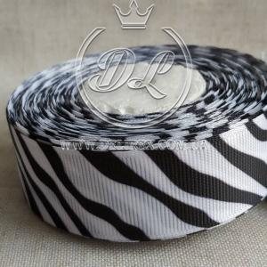 Репс 2.5 см черно-белая зебра