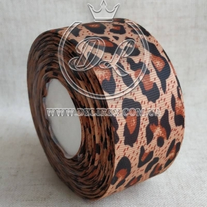Репс 4 см Леопард на кофейном