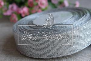 Парча 2.5 см  серебро