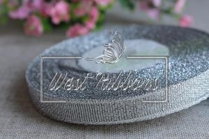 Парча 1.2 см серебро