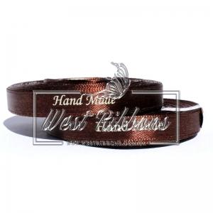 Атлас 0.9 см Hand Made, коричневый-5 метров