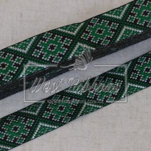 УКР.орнамент 2.8см зелёный