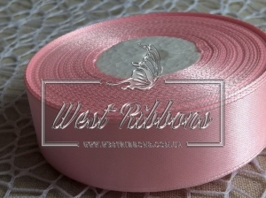 Атлас  4 см  светло-розовый 004 -РУЛОН
