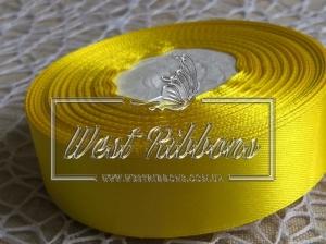 Атлас 5 см желтый  015