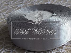 Атлас 2.5 см серебро 059  -РУЛОН