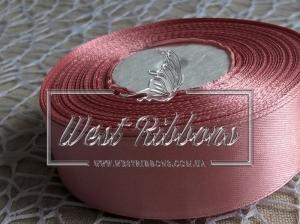 Атлас 4 см розово-коричневый  138  -РУЛОН