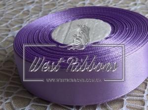 Атлас 0.9 см  средне-фиолетовый 021