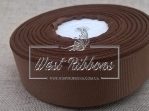 Репс  2.5 см , светло-коричневый РУЛОН