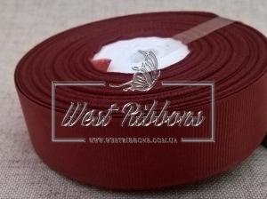 Репс  2.5 см , темно-красный (вишнёвый) РУЛОН