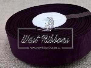 Репс  2.5 см , фиолетово-чернильный РУЛОН