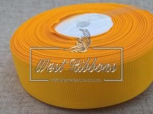 Репс  2.5 см , темно-желтый РУЛОН