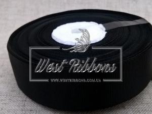 Репс 2 см, черный РУЛОН (36 ярд.)