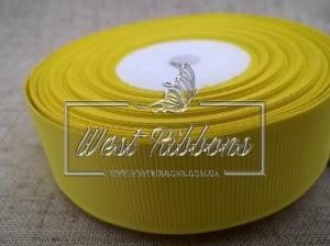 Репс  2.5 см , желтый РУЛОН