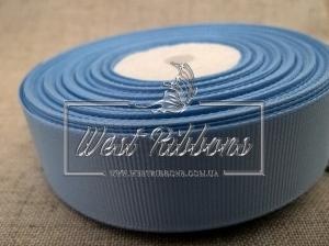Репс 2,5 см, голубой РУЛОН