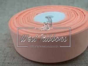Репс  4 см , персиковый РУЛОН