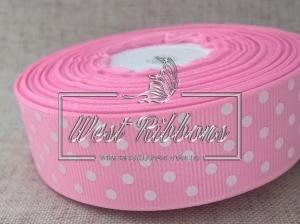Репс в Горох 2 .5 см,  розовый 004