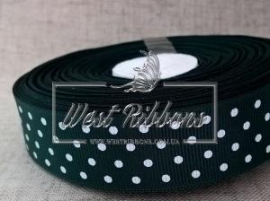 Репс в Горох 4 см, темно-зелёный 049