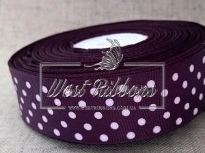 Репс в Горох  4 см, чернильно-фиолетовый 171
