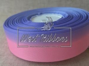 Репс Градиент 2.5 см, розово-фиолетовый
