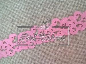 Ажур-дорожка 2 см, розовая
