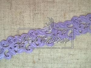 Ажур-дорожка 2 см, светло-фиолетовая