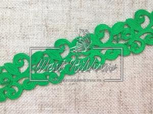 Ажур-дорожка 2 см, зеленая МОТОК