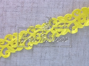 Ажур-дорожка 2 см, желтая МОТОК