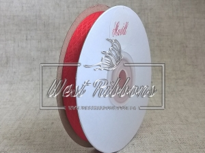 Атлас в ромбик 1 см, красный РУЛОН