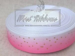 Репс 2.5 см Градиент со звездочкой, розовый
