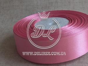 Атлас 1.2 см грязно-розовый