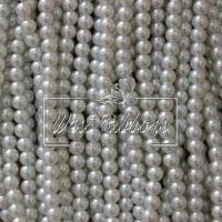Жемчуг на леске 6 мм, белый