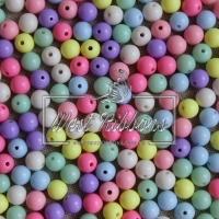 Бусины Пастель 8 мм микс (матовые)