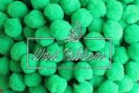Помпоны 2 см, зеленые