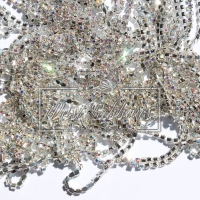 Цепочка-страза серебро ПЕРЛАМУТР 2.5 мм