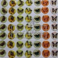 """Наклейки для крышечек -""""Бабочки """"  (1 пара.)"""