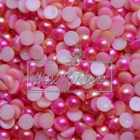 П-сы Омбре 8 мм матовые, розово-персиковые