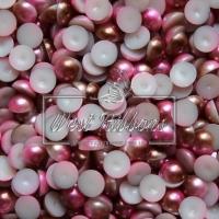П-сы Омбре 8 мм матовые, коричнево-розовые