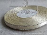 Люрекс 0.6 см , молочный с серебром