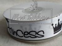 Репс 2.5 см Princess+ корона на белом *