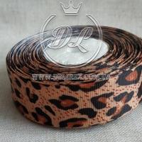 Репс 2.5 см Леопард на кофейном