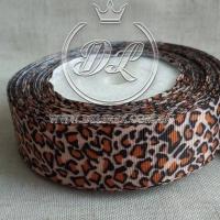 Репс 2.5 см Леопард на персиковом