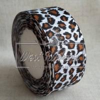 Репс 2.5 см Леопард на белом