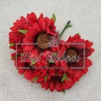 Букет хризантем, красные