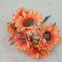 Букет хризантем, оранжевые