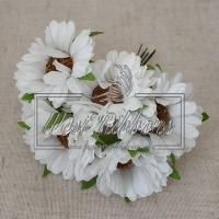 Букет хризантем, белые