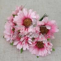 Букет хризантем, розовые