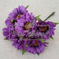 Букет хризантем, фиолетовые